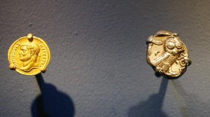 Ancient coins from the National Geographic exhibition,