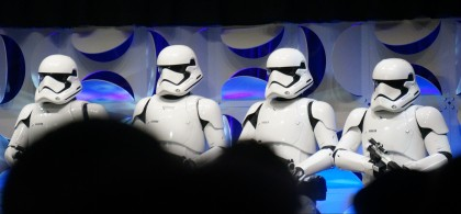 "The First Order from ""Star Wars: The Force Awakens"" photographed at 2015's ""Celebration"" convention."