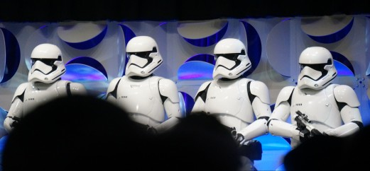 "First Order Stormtroopers from ""Star Wars: The Force Awakens"" at ""Star Wars: Celebration"" in 2015"