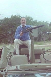 "Gary Raymond or ""Sgt Jack Moffitt"" of The Rat Patrol at the 2001 Long Range Desert Convention"