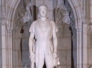WWI aviator Norman Prince in Washington National Cathedral in D.C.,